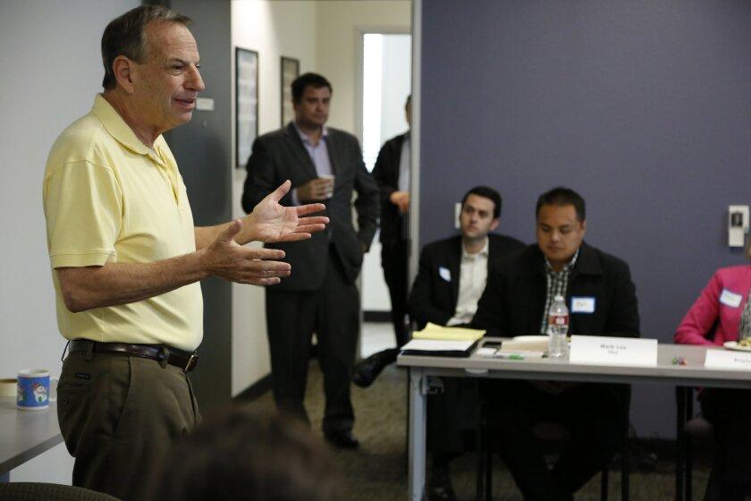 Mayor Bob Filner talks to a San Diego Leadership  Alliance class recently.