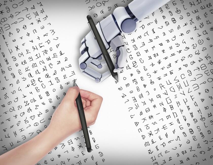 Artificial intelligence handwriting