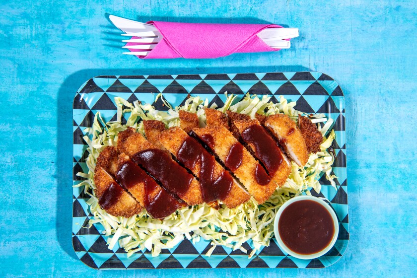 A plate lunch of chicken katsu is one of the best parts of going to Hawaii.
