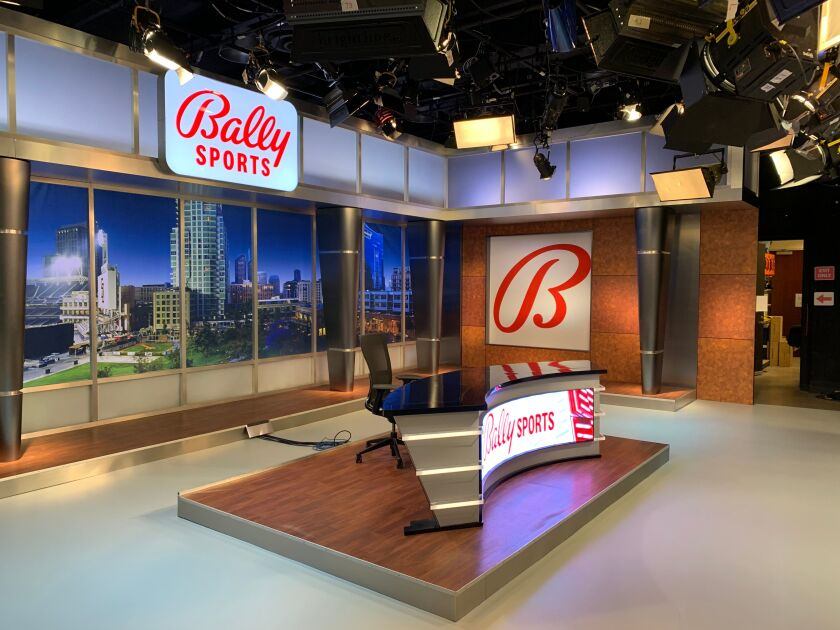A look at the new Bally Sports San Diego set.