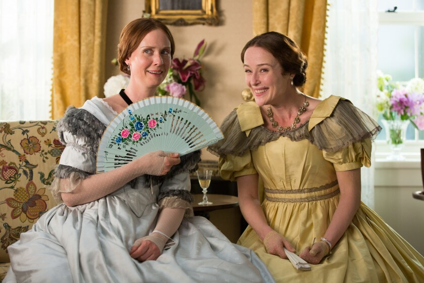 """Cynthia Nixon and Jennifer Ehle in the movie """"A Quiet Passion."""""""