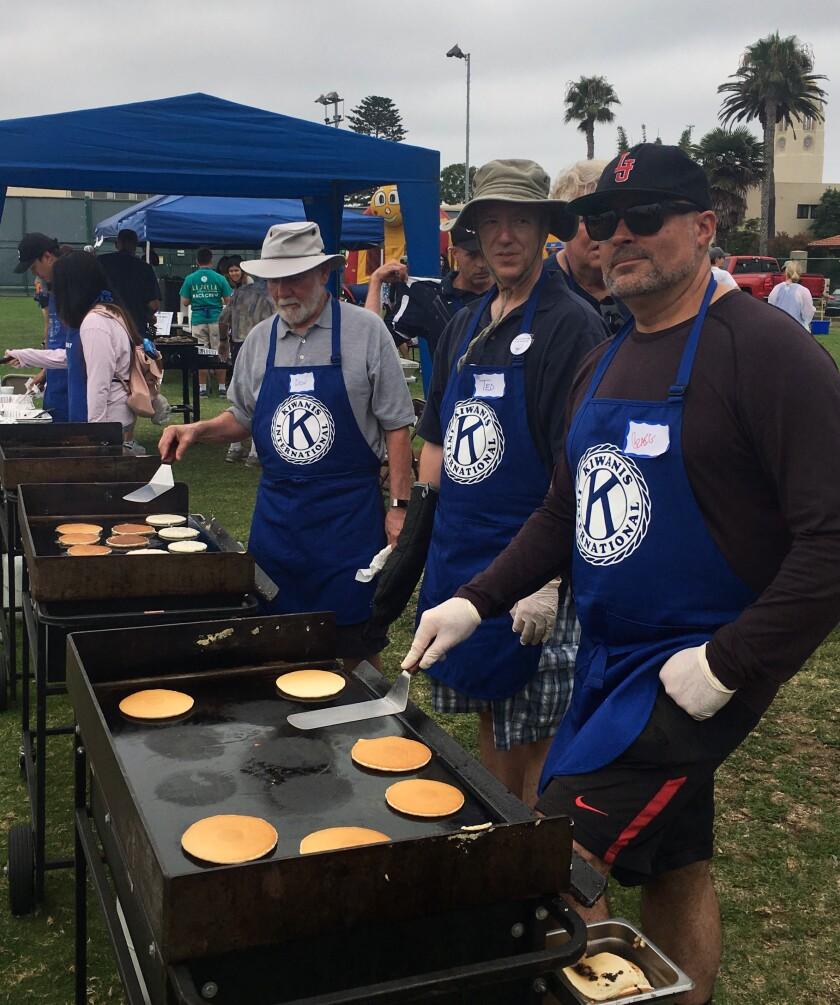 The Kiwanis Club of La Jolla pancake breakfast, shown in 2019, returns to the La Jolla Recreation Center on Sept. 18.