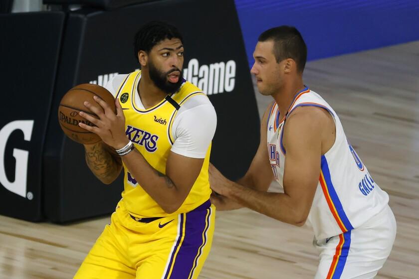 Los Angeles Lakers' Anthony Davis
