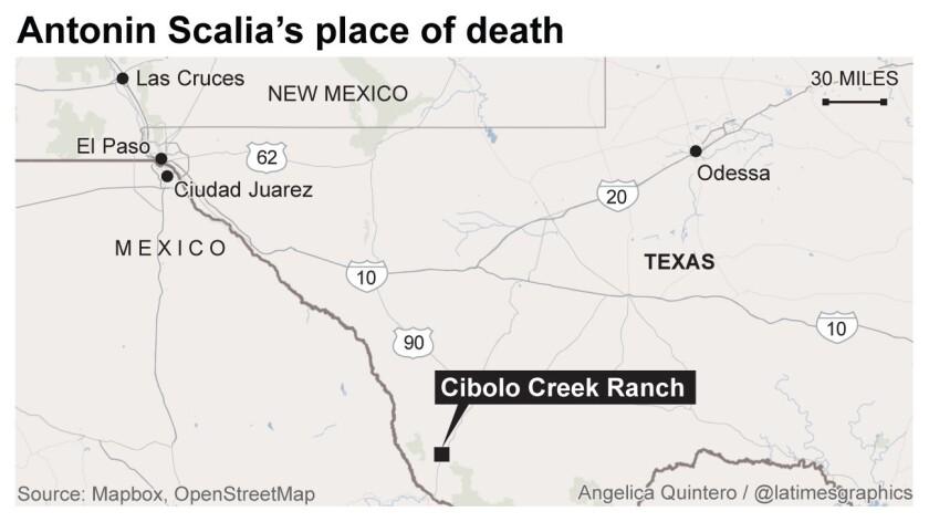 Antonin Scalia's place of death