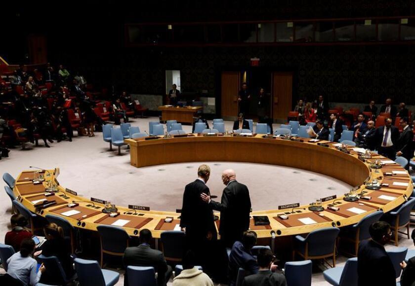 Vista de una sesión de seguridad en la sede de la ONU. EFE/Archivo