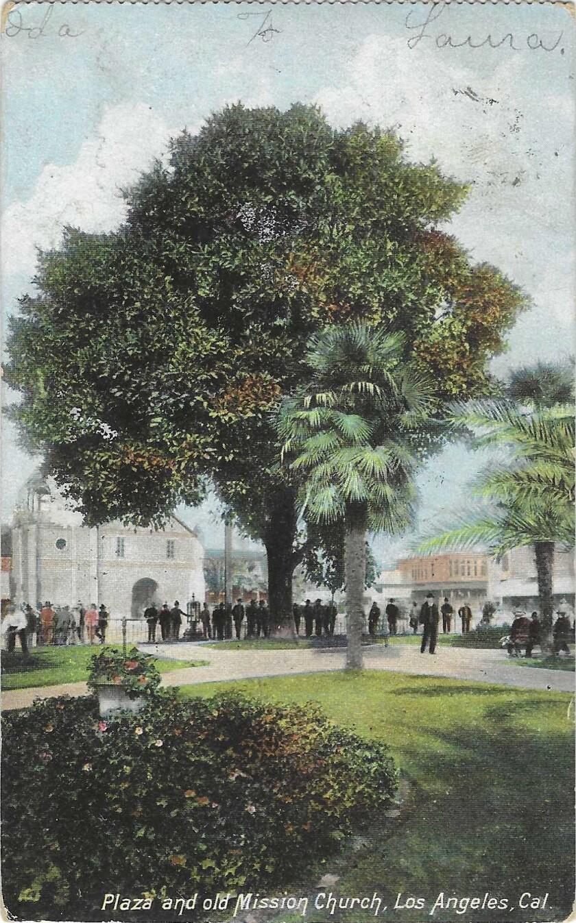 La Placita on a vintage postcard
