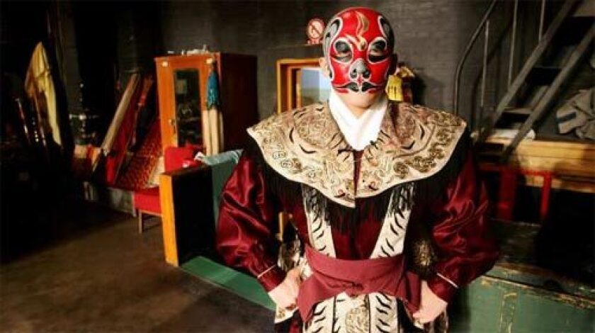 WEARING THE MASK: As a painted-face actor in Peking opera, Qiu Jirong has played leading roles, but says he feels like more of a curiosity than an artist. He performs out of a sense of duty to a six-generation family legacy in the art form. His real love is modern dance.