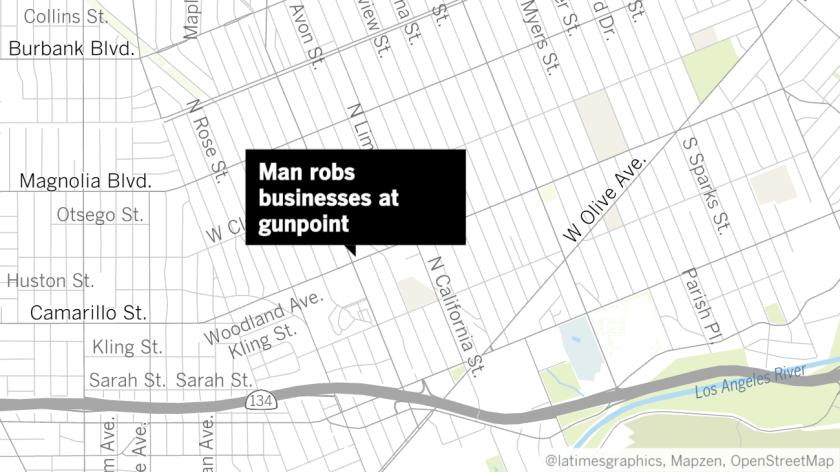 Man Looking At Subway Map.Man Robs Burbank Subway At Gunpoint Walks Across The Street And