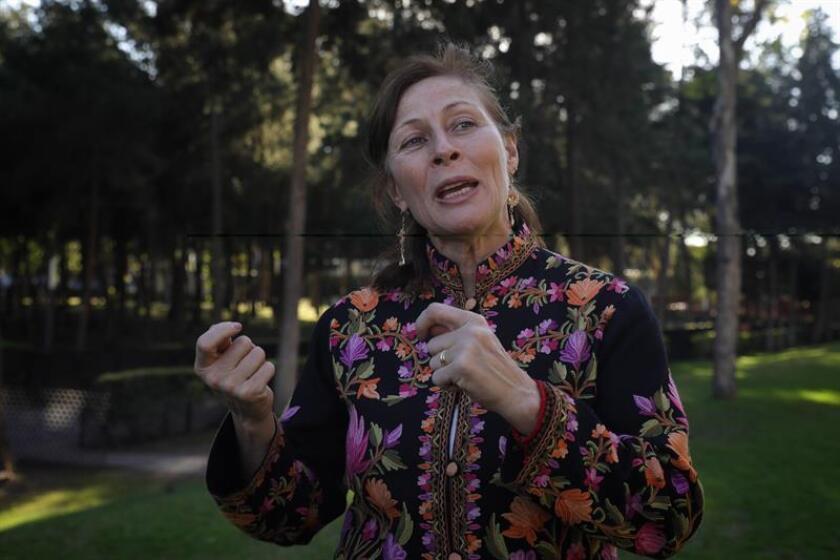 La diputada Tatiana Clouthier habla durante una entrevista con Efe el martes 19 de febrero de 2019, en Ciudad de México (México). EFE