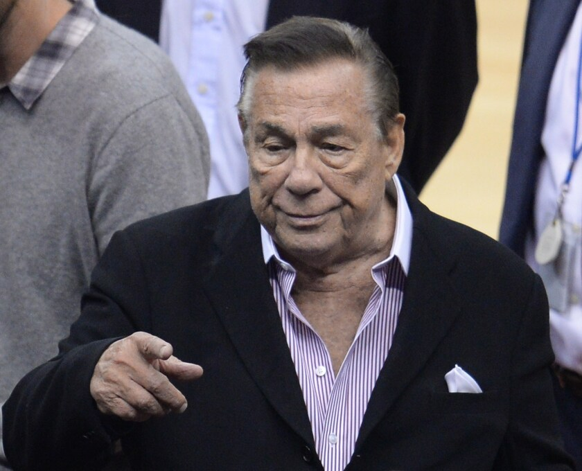 Donald Sterling attends a Clippers game on April 21.