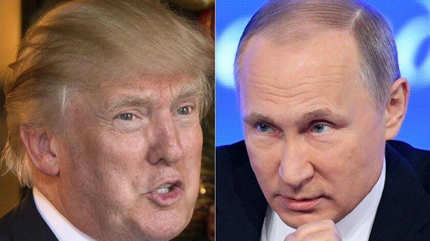 President-elect Donald Trump and Russian President Vladimir Putin