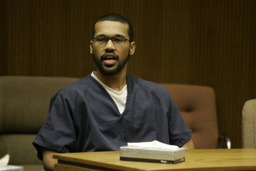 Convicted killer Anthony James Miller addressed his family and those of the victims before his sentencing yesterday in El Cajon Superior Court.