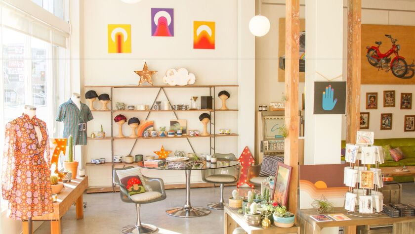 The new Nico & Bullitt showroom and gallery in Echo Park features an assortment of vintage-inspired goods by local designers and independent artists.