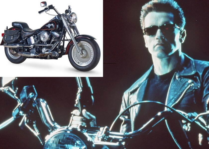 Terminator 2' motorcycle, other props stop by Milwaukee