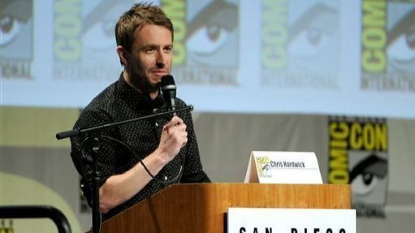 """Chris Hardwick at San Diego Comic-Con's """"The Walking Dead"""" panel in 2014."""