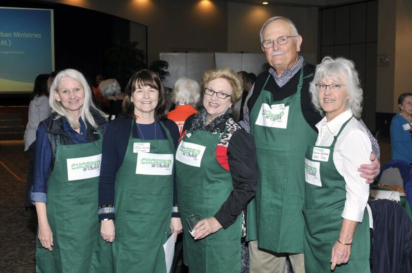 Chopped at Church chair Jeanie Spies, committee members Lyn Lloyd-Smith, Diana and Roger Van Duzer, Glenna Spindelman