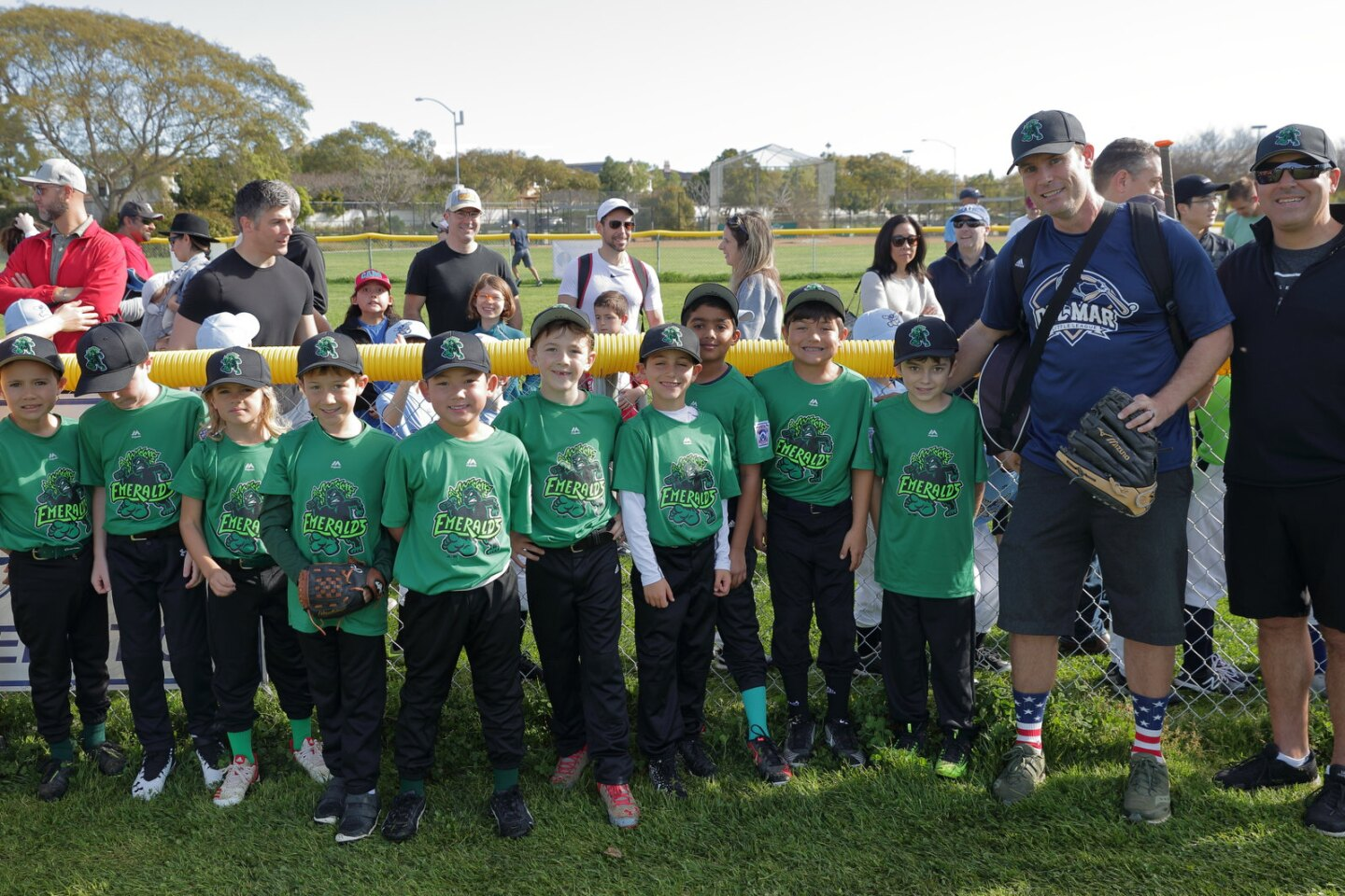 Emeralds at the Del Mar Little League Opening Day