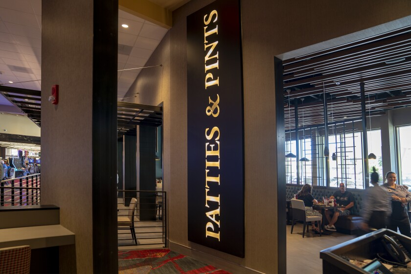 Valley View Casino & Hotel's new restaurant Patties & Pints is right off the main casino floor.