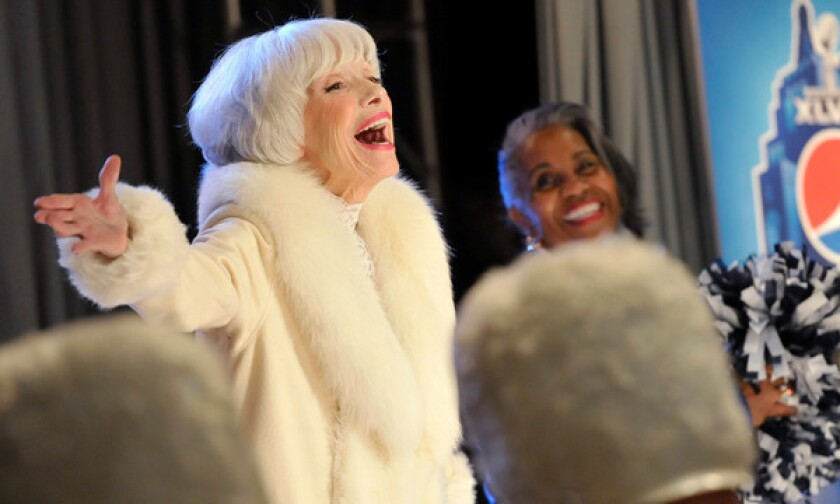 Entertainer Carol Channing, whose halftime performance at Super Bowl IV in 1970 paved the way to the modern Super Bowl halftime show, recently appeared in a Pepsi commercial to promote this year's Super Bowl halftime show.