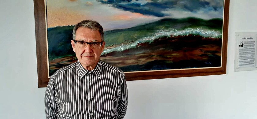 Antonis Alakiotis, president of the Greek Cremation Society, at the Ritsona Crematorium