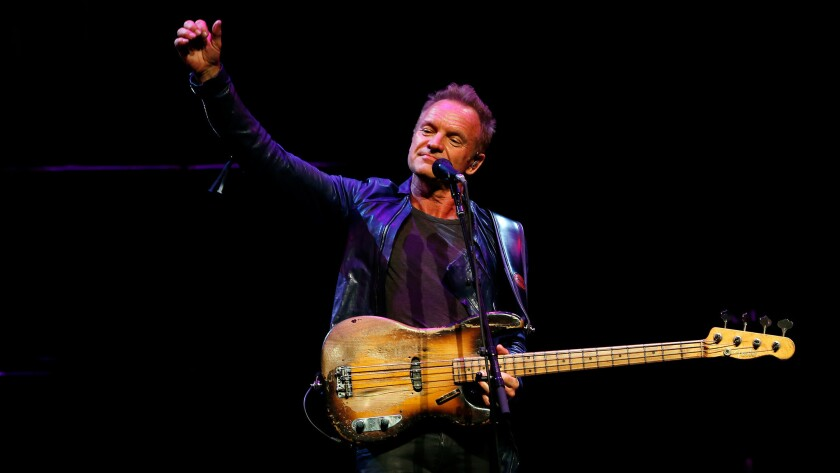 Sting unveiled new songs this at a session for KCSN-FM (88.5).