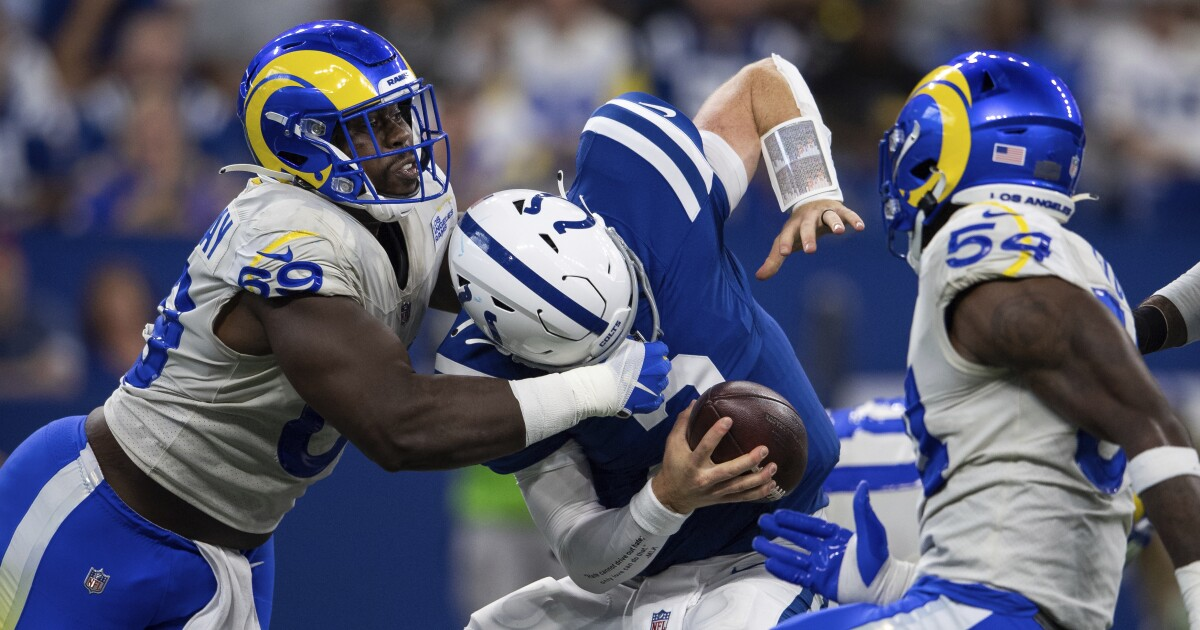 Rams' 27-24 road victory over the Indianapolis Colts by the numbers