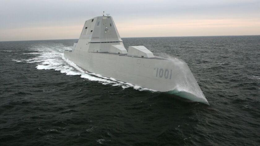 180201-N-N2201-001 Bath, Maine (Feb. 1, 2018) The Navy's next generation destroyer, the future USS