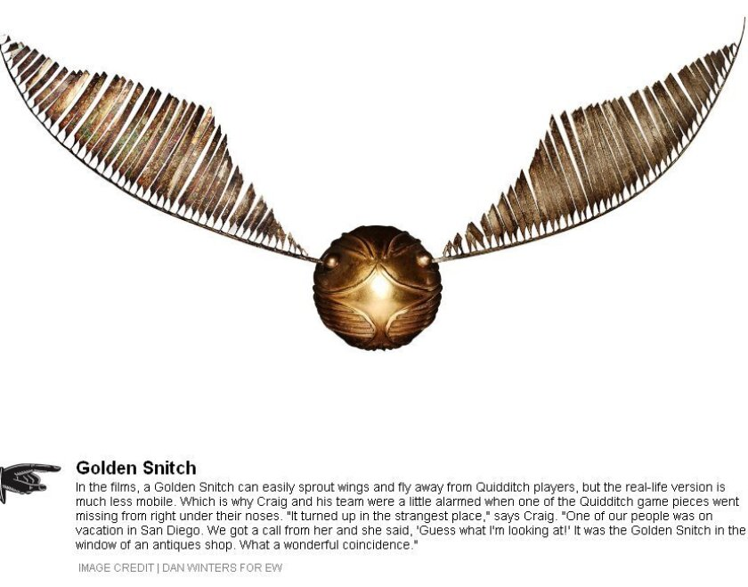 Win the golden snitch and quidditch players (usually) win the game in the world of Harry Potter.