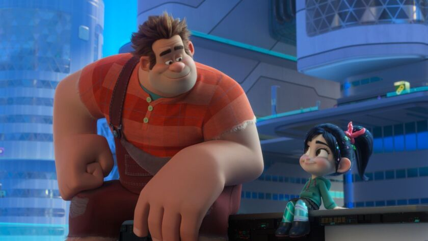 """In Disney's """"Ralph Breaks the Internet,"""" video game bad guy Wreck-It Ralph and his best buddy Vanellope journey to the internet in search of a replacement part for her game. The film has maintained the No. 1 box office spot for a third straight weekend."""