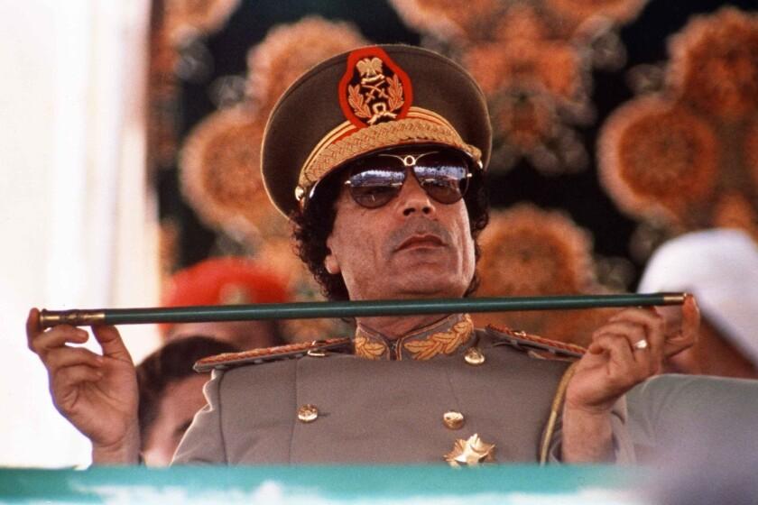 Moammar Kadafi in 1987.