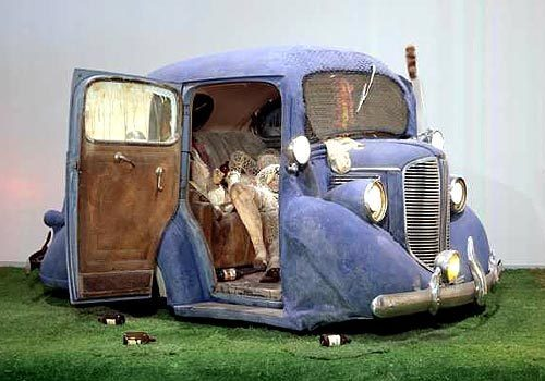 "Edward Kienholz's ""Back Seat Dodge '38."""