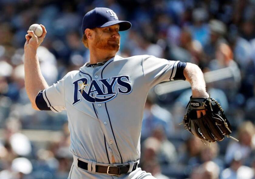 El pitcher Alex Cobb. EFE/Archivo