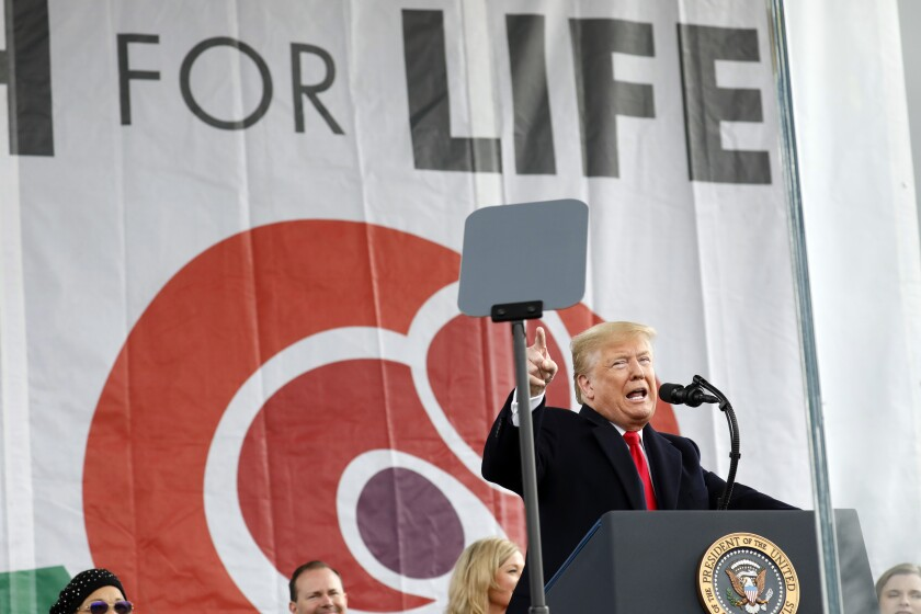 Donald Trump attends March for Life