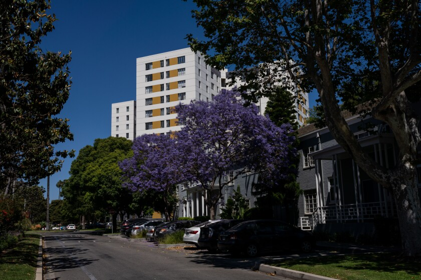 Park La Brea in Los Angeles' Miracle Mile is the largest housing complex west of the Mississippi River.
