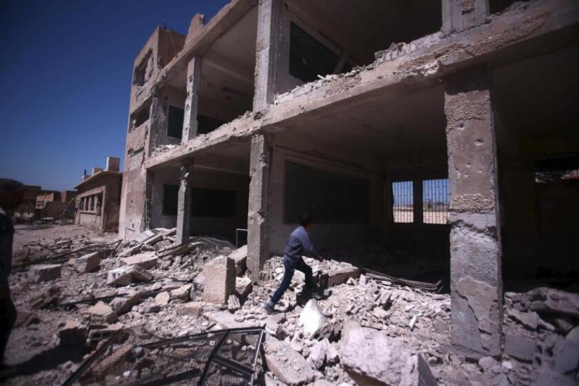 Estados Unidos, el Reino Unido y Francia reiteraron hoy su condena del uso de armas químicas por el régimen sirio de Bashar al Asad cuando se cumple el quinto aniversario del ataque con gas sarín sobre la población de Guta. EFE/ARCHIVO