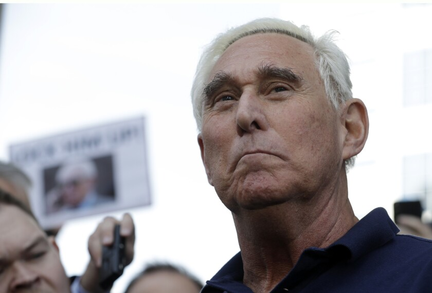 Roger Stone in January.