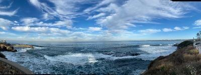 Clouds play over the sea off the La Jolla coast.