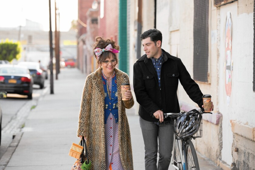 "Sally Field and Max Greenfield in ""Hello My Name Is Doris."""