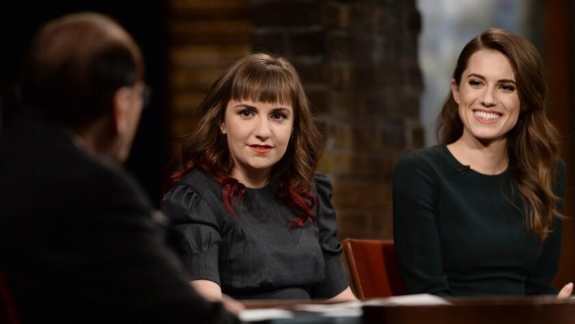 "Lena Dunham, left, and Allison Williams in ""Inside the Actors Studio"" on Bravo"