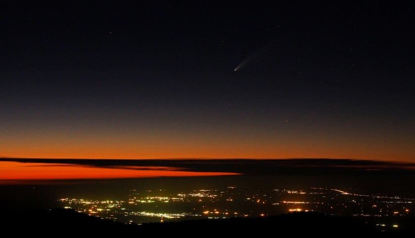 Comet NEOWISE from Mt. Pinos