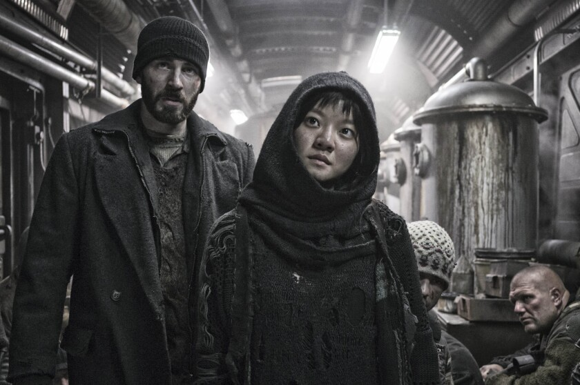 "Chris Evans and Ah-sung Ko star in ""Snowpiercer."""