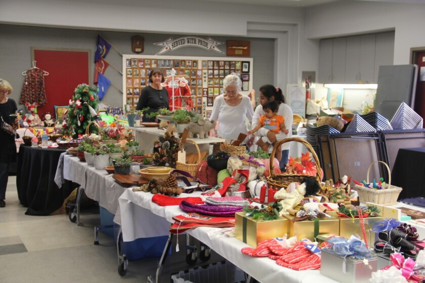Attendees enjoying the 2018 Solana Beach Civic and Historical Society Holiday Boutique.