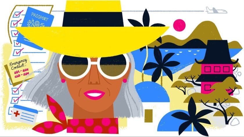 ON THE SPOT column about the checklist for Older Travelers. Loris Lora / For The Times