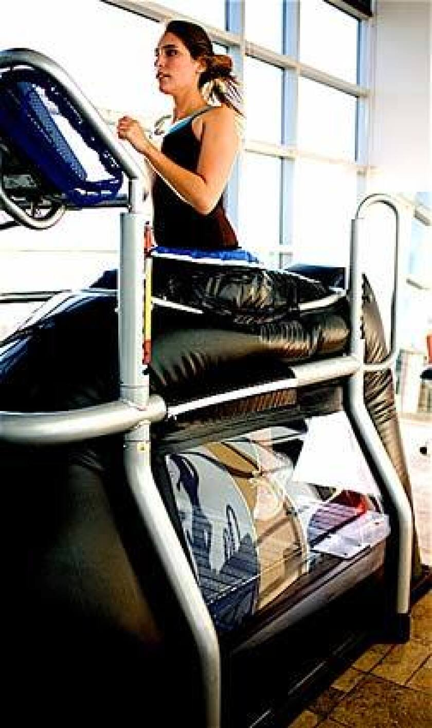 AlterG Anti-Gravity M320 Treadmill: Device that lightens a runner's weight by as much as 80% by lifting the body in a bubble of air pressure.