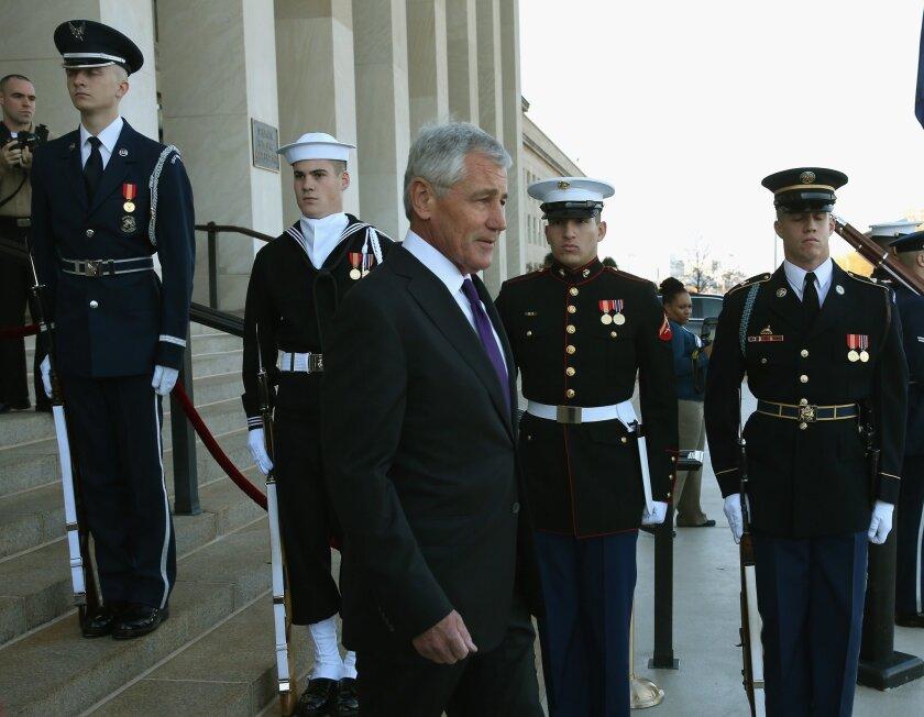 Defense Secretary Chuck Hagel is stepping down, President Obama announced Monday.