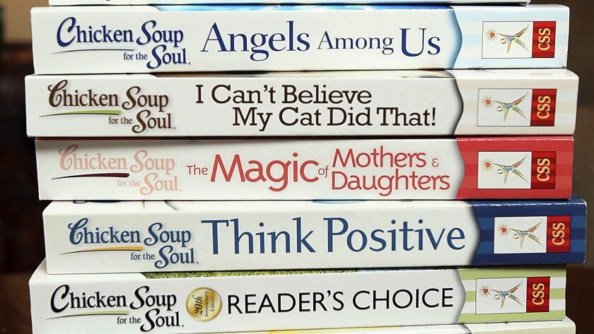 FILE - This July 5, 2013, file photo, shows some of the titles in the Chicken Soup for the Soul seri
