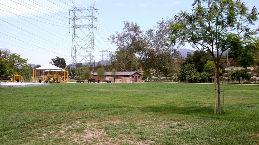Johnny Carson Park on Bob Hope Dr. is now open after major remodeling, in Burbank on Tuesday, June 2