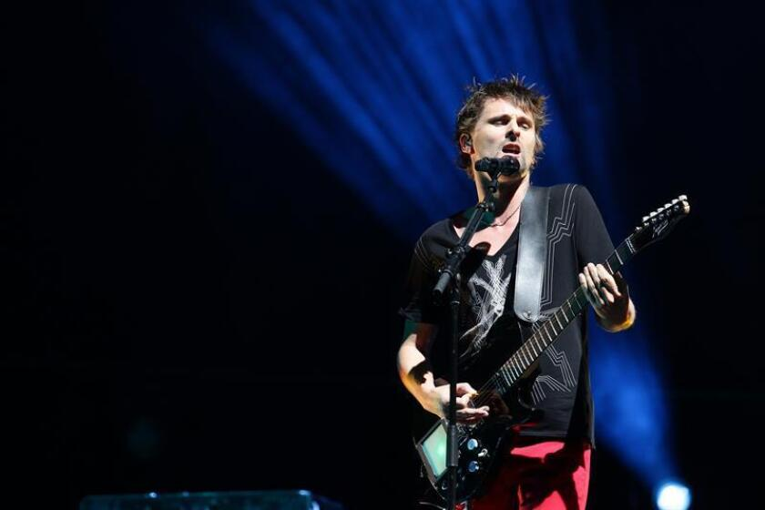 El grupo de rock británico, Muse, durante un concierto. EFE/Archivo