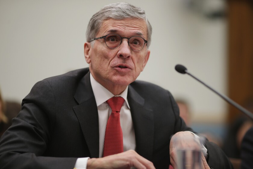 Federal Communications Commission Chairman Tom Wheeler testifies before the House Judiciary Committee in March.