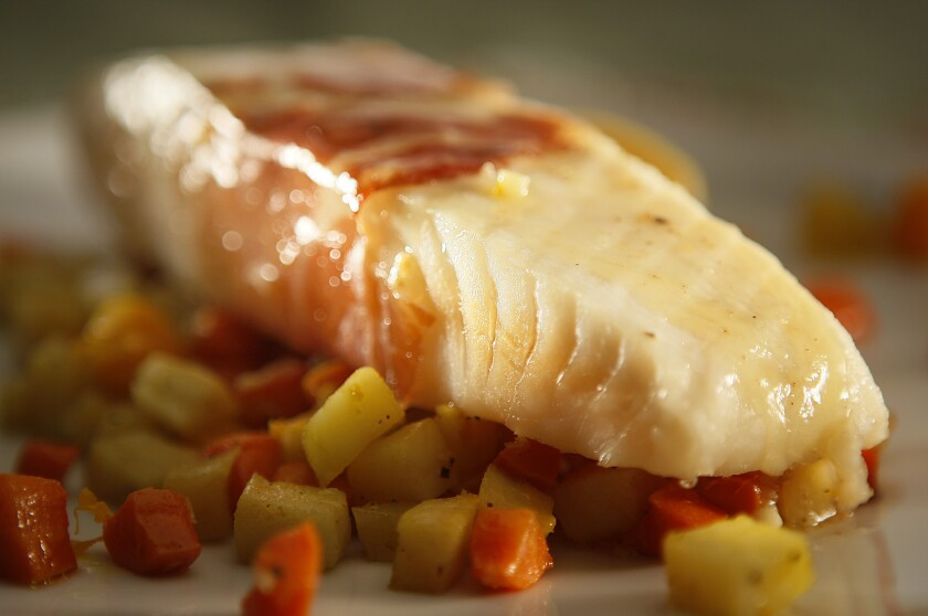 ROASTED BASS: Simple, yet satisfying.